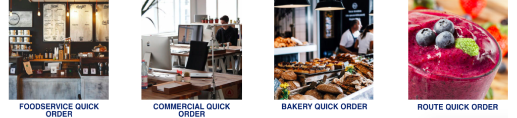 Food Service Quick Order, Commercial Quick Order, Bakery Quick Order, Route Quick Order
