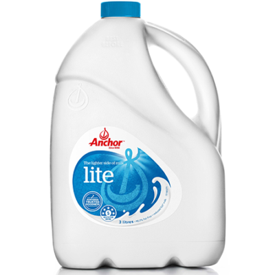 Anchor Fresh White Milk Lite 3L