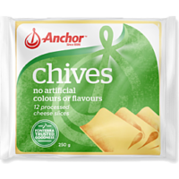 Anchor Processed Cheese Slices 250g - Chives
