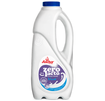 Anchor White Milk Zero Lacto Blue 1L