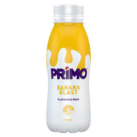 Primo UHT Flavoured Milk Banana 12 x 325ml Carton